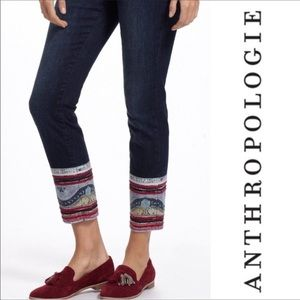 Anthropologie Pilcro patchwork ankle jeans 30 Stet
